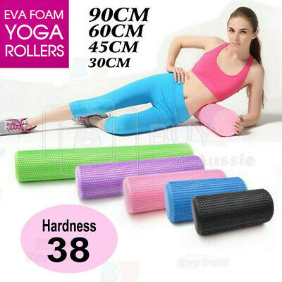 AU32.95 • Buy VIVVA Pilates Foam Roller EVA Physio Yoga Fitness GYM Exercise Training 45/60/90