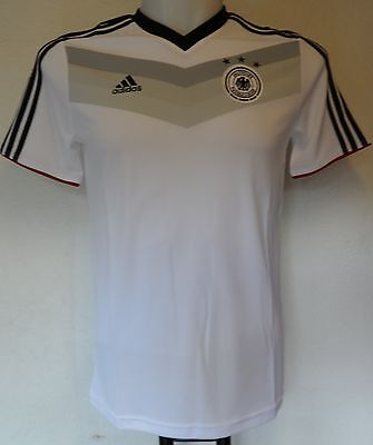 Germany S/s White Home Tee Shirt By Adidas Size Boys 13-14 Years Brand New  • 17.99£