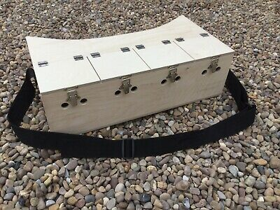 Quad Bow Back Ferret Box 4 Seperate Compartment Hunting Rabbitting Ferreting • 50£