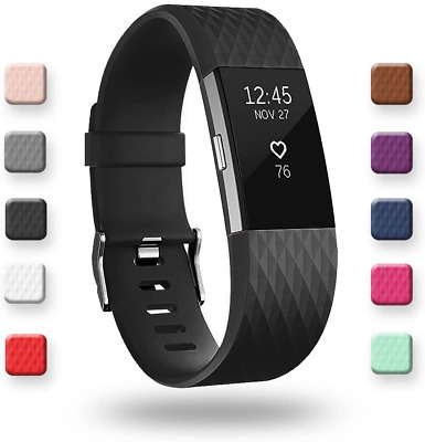 AU17.59 • Buy Adepoy Sport Strap Band Compatible To Fitbit Charge 2Adjustable NextDay Delivery