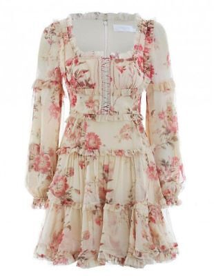 $298 • Buy New With Tag Authentic $960 ZIMMERMANN Corsair Frill Corset Dress