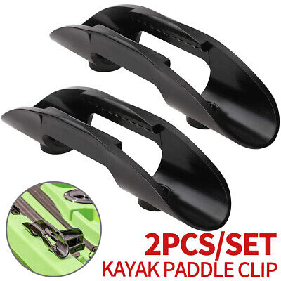 AU7.69 • Buy 2pcs Kayak Paddle Holder Clips Rod Holder Canoe Fishing Net Clip Accessories