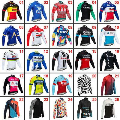 $20.68 • Buy New Mens Cycling Long Sleeve Jersey Bike Tops Clothing Shirts Cool Polyester Pro