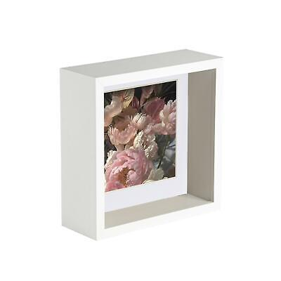 6 X 6 3D Box Frame Photo Picture Deep Display Shadow With 4 X 4 Mount  White • 10.99£