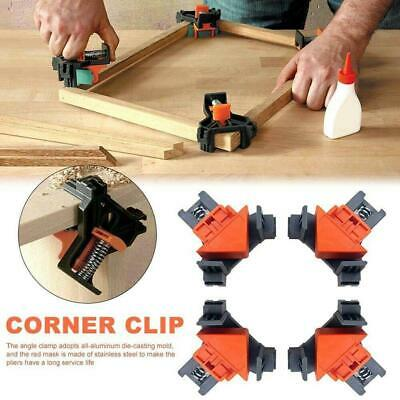 $10.74 • Buy 4PCS 90° Degree Right Angle Clip Clamps Corner Holder Woodworking Hand Tool