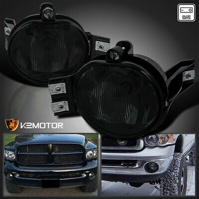 $36.38 • Buy For 2002-2008 Dodge Ram 1500 2500 3500 Smoke Bumper Driving Fog Lights+Switch