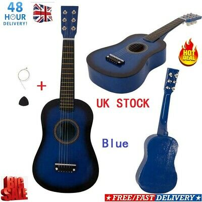 23  Inch Kids Wooden Acoustic Guitar Children Toy Gift W/Pick 6 Strings UK SELL • 14.89£