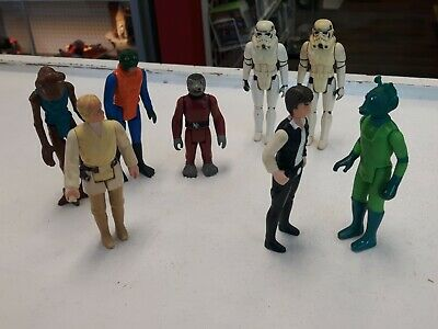 $ CDN69.99 • Buy Star Wars Vintage Mos Eisley Cantina Figure Lot Han Solo Greedo Stormtroopers