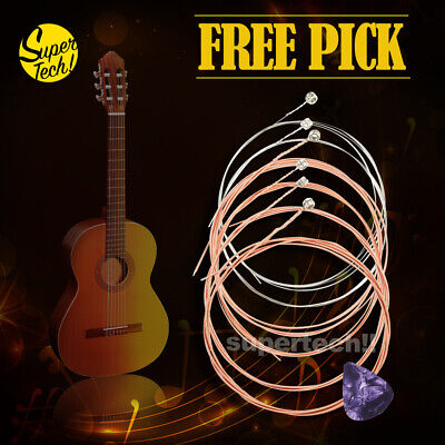 AU7.95 • Buy Classic Acoustic Guitar Strings Steel Premium Light Universal 6 Pcs For Beginner
