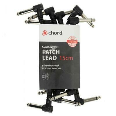 $ CDN10.21 • Buy Guitar Patch Leads/cable For Effects Pedals Pack Of 6 (black)  (0.15m)