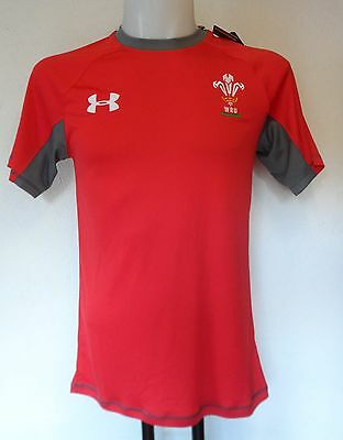 Wales Rugby S/s Red Training Jersey By Under Armour Size Men's Xl Brand New • 24.99£