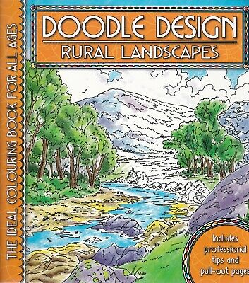 Rural Landscapes Colouring Book - Doodle Design - Art Therapy • 4.49£
