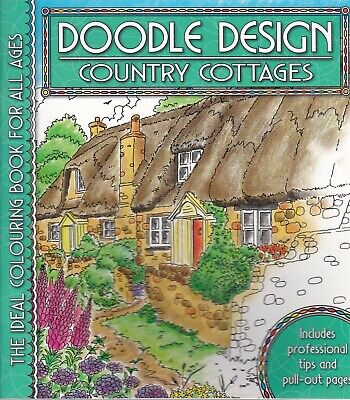 Country Cottages Colouring Book - Doodle Design - Art Therapy • 4.49£