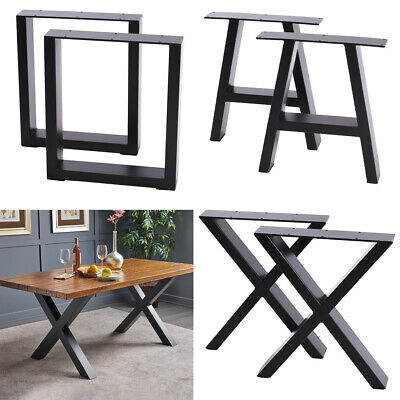2x Table Leg Steel Dining Coffee Bench Office Desk Metal Industrial Style Rustic • 65.95£