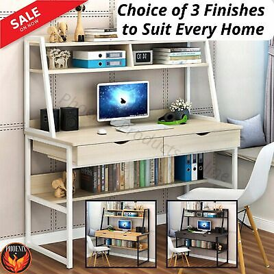AU209.86 • Buy Computer Desk Study Home Office Table Student White Metal Workstation Storage