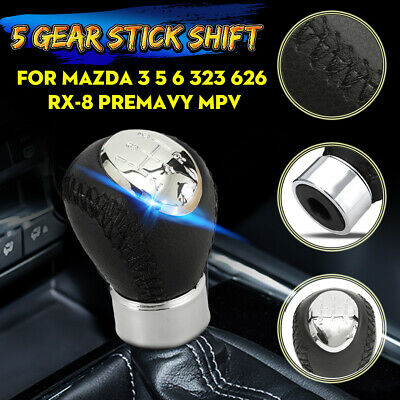 AU19.99 • Buy 5 Speed Leather Gear Stick Shift Knob For Mazda 3 5 6 M3 M5 M6 323 626 RX-8  //