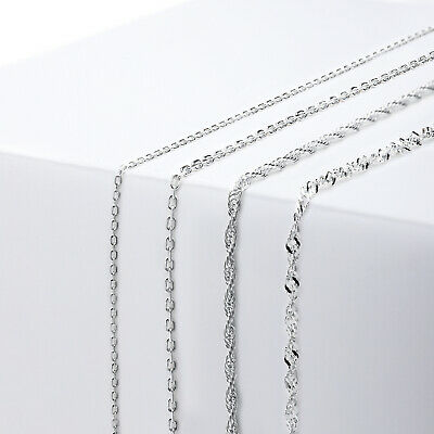 925 Sterling Silver Rope Necklace Chain Link Trace • 5.69£