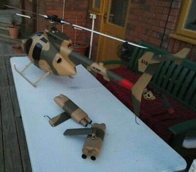 Vintage Rare X-Cell MD500 ARMY RC Helicopter VERY LARGE • 650£
