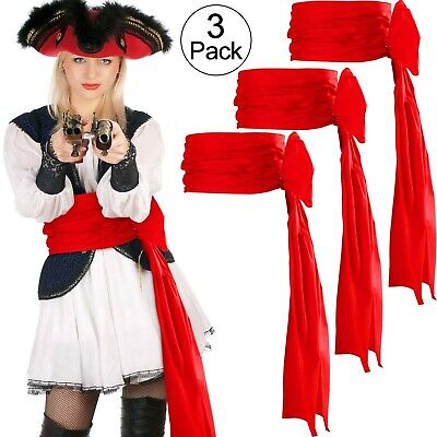 SATINIOR 3 Pieces Pirate Sash Halloween Belt Sash Medieval Sash, 118 Inch Lon... • 27.99£
