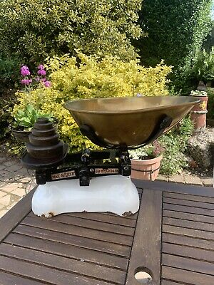 £145 • Buy Vintage W & T Avery Ltd Scales To Weigh 14 Lbs With Set Of Weights