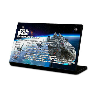 $11.80 • Buy Display Plaque Stand For LEGO 75192 76105 75257 Millennium Falcon, MP62