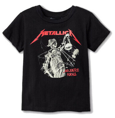 £14.54 • Buy Metallica Toddler Boys' And Justice For All T-Shirt (Black, 12M 18M 2T 3T 4T 5T)