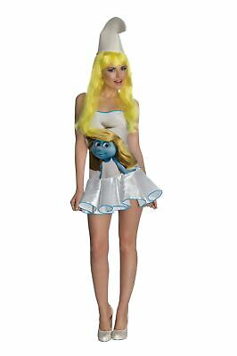 The Smurfs Classic Smurfette Costume Wig Adult One Size • 35.99£