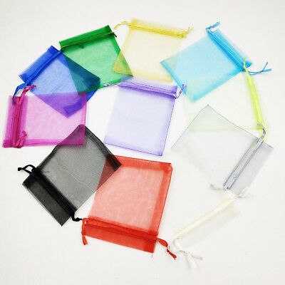 £2.99 • Buy 25-100pcs Luxury Organza Wedding Favour Gift Candy Bags Jewelry Pouch Party UK
