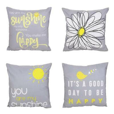 You Are My Sunshine Throw Pillow Covers Sunflower PillowCase Cushion • 4.08£