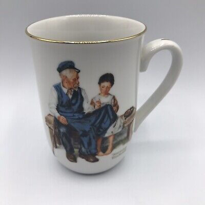 $ CDN6.59 • Buy Vtg 1982 Norman Rockwell Museum Mug The Lighthouse Keepers Daughter Coffee Cup