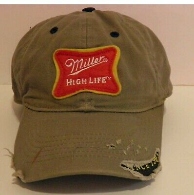 $10 • Buy Miller High Life Baseball Hat/Cap (Embroidered, Distressed)