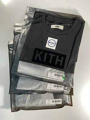 $ CDN126.16 • Buy Kith Box Logo Flock Tee - Black Tonal M L XL - BNWT Authentic Supreme