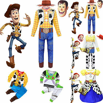 Cosplay Toy Story Woody Jessie Fancy Dress Kids Boys Girls Party Costume Outfits • 8.64£