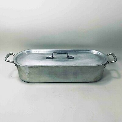 $128 • Buy Rare Vintage Heller Aluminum Fish Poacher Pan Poaching Steamer Pot Made In Italy