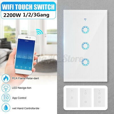 AU29.28 • Buy 1/2/3Gang Wifi Smart Home LED Touch Light Wall Switch Panel For Alexa Google APP