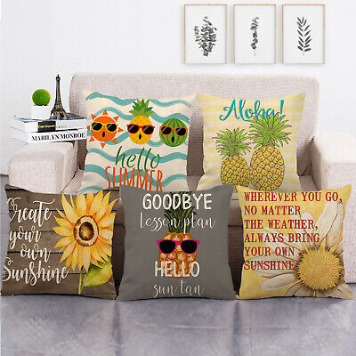 18  You Are My Sunshine Decorative Pillow Cases Home Decor Square Cushion Cover • 3.36£