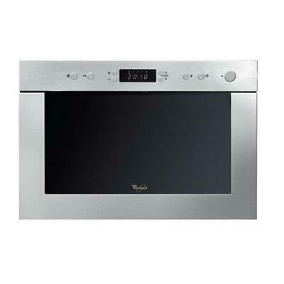 Whirlpool AMW498IX 22L Compact Built-in Microwave Grill Stainless Steel • 209£