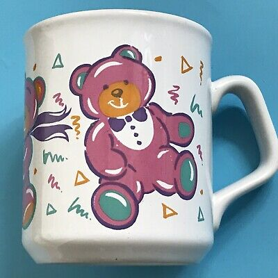£8.99 • Buy Tams Vintage Retro Mug Cup Pink Teddy Bear  Height 3.75 Inches / 9.3cm