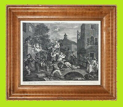£14.99 • Buy WILLIAM HOGARTH   The Election  Series  - Plate No.4 Vintage Print  - 24  X 18