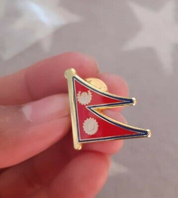 Nepal - Flag Lapel Pin Badge High Quality Gloss Enamel • 2.50£