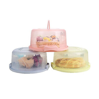 Portable Plastic Cake Box Tub Cake Carry Carrier Food Storage Container  Awdd • 8.69£