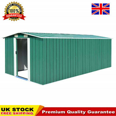 Green Outdoor Garden Metal Storage Shed Galvanised Steel 3 Sizes Available • 494.92£