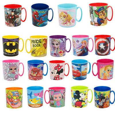 New Design Kids Character Micro Mug 350ML Drinking Plastic Cup Microwave Safe  • 8.48£