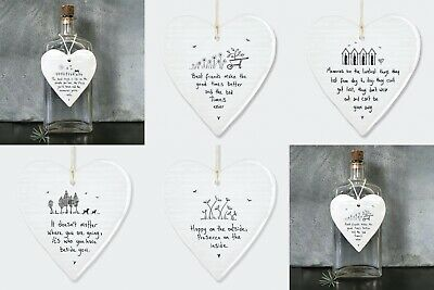 East Of India Porcelain Heart Plaque Sentimental Friendship Family Baby Sign  • 5.49£