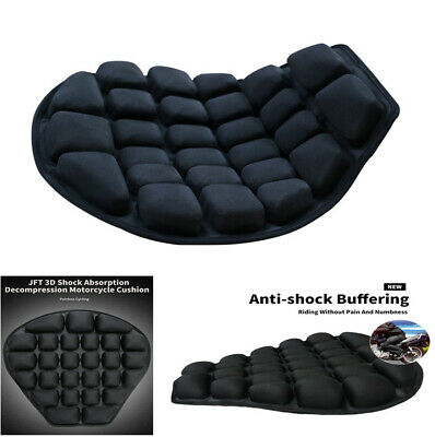 Motorcycle Inflatable Cushion W/Air Pump 40*35cm TPU Water-Fillable Seat Pad New • 19.91£