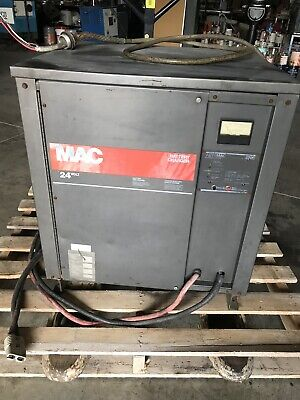 $549 • Buy Mac Automac 2200 Forklift Battery Charger 24v 3ph Works!