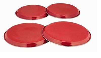 AU12.31 • Buy New Red 4pc Hob Cover Set Burner Ring Lid Protector Metal Lid Cooker Electric