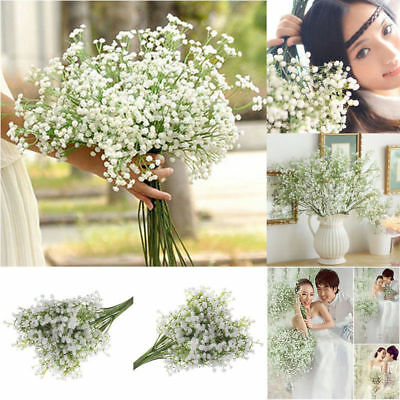 £6.99 • Buy 52cm Gypsophila Baby's Breath Artificial Fake Flower Home Wedding Decor UK