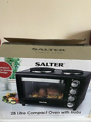 Salter 28 L Compact Oven Dual Hob Grill Toaster Mini Electric • 95£