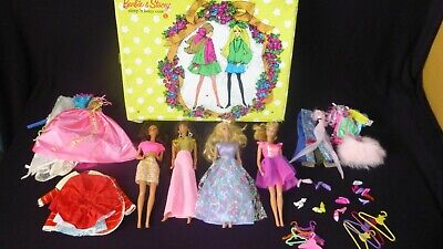 $ CDN176.50 • Buy Vintage Barbie & Stacey Sleep 'n Keep 1968 Doll Case Mattel LOADED W/ Clothes